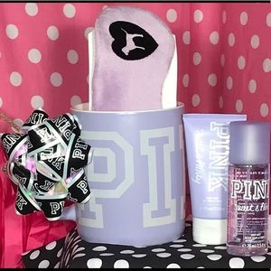 Victorias Secret Pink Mug Bow gift Set 🌸